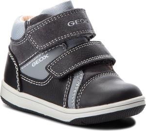 Buty dziecięce zimowe Geox z zamszu na rzepy
