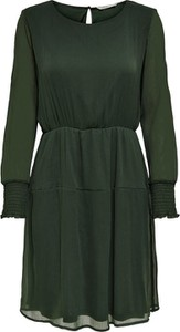 Zielona sukienka Only z okrągłym dekoltem