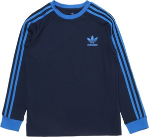 Granatowa bluzka dziecięca Adidas Originals z dżerseju w paseczki