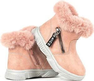 Buty dziecięce zimowe Royalfashion.pl na zamek