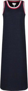 Granatowa sukienka Tommy Hilfiger w stylu casual bez rękawów z okrągłym dekoltem