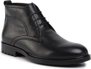 Czarne buty zimowe Sergio Bardi sznurowane