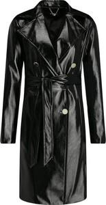 Czarny płaszcz Guess by Marciano ze skóry
