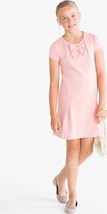 Różowa sukienka dziewczęca Smart & Pretty z dżerseju