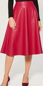 Czerwona spódnica Mohito ze skóry ekologicznej