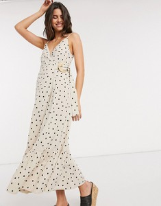 Sukienka Asos z lnu maxi