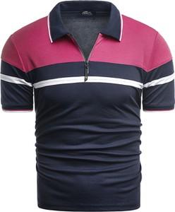 Czarny t-shirt Risardi z krótkim rękawem