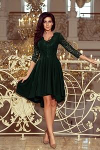Zielona sukienka Pawelczyk24.pl z dekoltem w kształcie litery v
