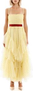 Żółta sukienka Red Valentino z tiulu