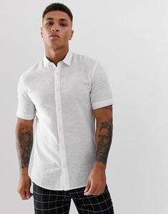 Koszula Only & Sons z krótkim rękawem z lnu