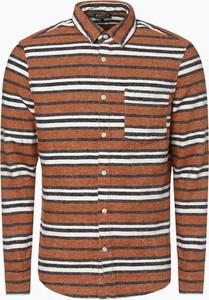 Brązowa koszula Review z tkaniny w stylu retro z klasycznym kołnierzykiem