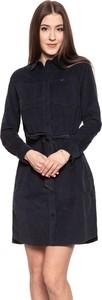 Czarna sukienka Lee ze sztruksu