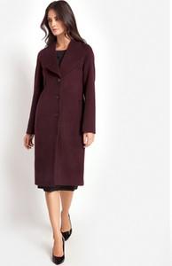 Czerwony płaszcz Molton z tkaniny
