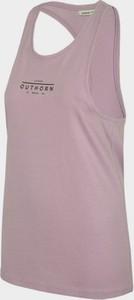 Różowa bluzka Outhorn w sportowym stylu z okrągłym dekoltem