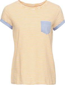 Żółty t-shirt bonprix john baner jeanswear z krótkim rękawem