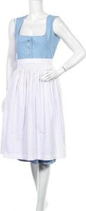 Niebieska sukienka Country Life z okrągłym dekoltem na ramiączkach