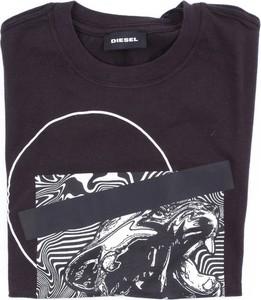 Czarna koszulka dziecięca Diesel z bawełny dla chłopców
