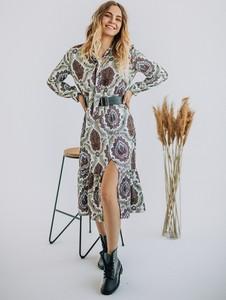 Sukienka Promese z długim rękawem midi