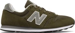 Zielone buty sportowe New Balance sznurowane