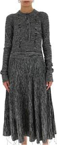 Sukienka Marni z długim rękawem z wełny z okrągłym dekoltem