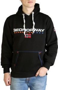 Czarna bluza Geographical Norway z plaru