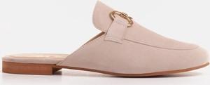 Klapki Marco Shoes z zamszu