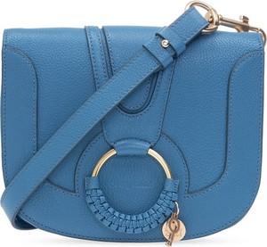 Niebieska torebka SEE BY CHLOE ze skóry