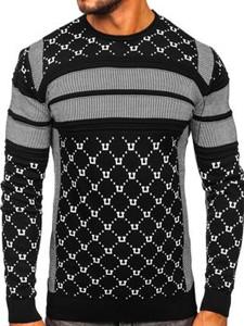 Sweter Denley w stylu klasycznym z bawełny z okrągłym dekoltem