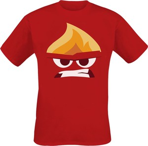 Czerwony t-shirt Emp z nadrukiem w młodzieżowym stylu