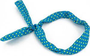 Cloe OPASKA NA TOPIE PIN UP niebieska kropki żółte