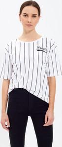 T-shirt Gate w stylu casual z bawełny