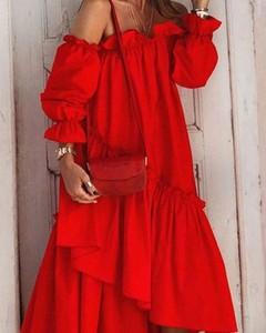Czerwona sukienka Kendallme maxi