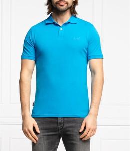 Niebieski t-shirt Superdry w stylu casual