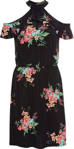 Sukienka bonprix BODYFLIRT rozkloszowana mini z krótkim rękawem