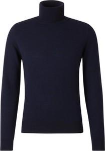 Niebieski sweter Zanone z wełny w stylu casual