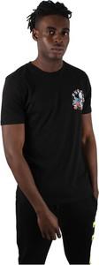 Czarny t-shirt Pyrex z bawełny z krótkim rękawem w młodzieżowym stylu