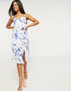 Niebieska sukienka Lipsy maxi asymetryczna
