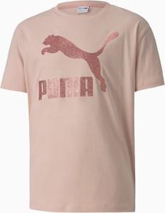 Koszulka dziecięca Puma z krótkim rękawem z bawełny
