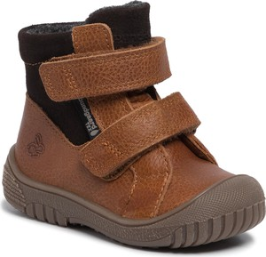 Brązowe buty dziecięce zimowe Bundgaard na rzepy