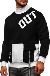 Bluza Denley z nadrukiem z bawełny w młodzieżowym stylu