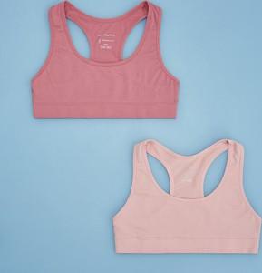 Reserved - 2 pack topów sportowych - Różowy