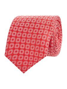 Różowy krawat Olymp z jedwabiu