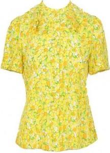 Żółta bluzka Moschino z jedwabiu