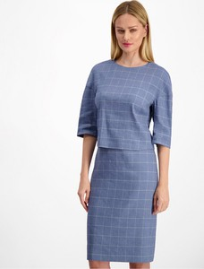 Niebieska spódnica Lavard z lnu