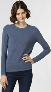 Niebieski sweter Franco Callegari z dzianiny w stylu casual