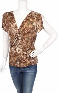 Brązowa bluzka Suzie In The City w stylu casual