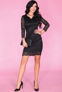 6fa487068a czarna sukienka z długim rękawem - stylowo i modnie z Allani