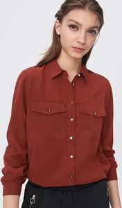 Brązowa koszula Sinsay z długim rękawem