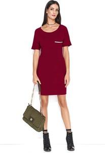 Sukienka Makadamia z krótkim rękawem mini z dzianiny