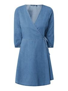Niebieska sukienka Vero Moda w stylu casual mini z długim rękawem